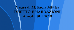 DIRITTO E NARRAZIONI